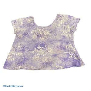 Floral scoop back urban outfitters shirt